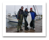March 26, 2018 : 42 lbs.Halibut - Haro Strait - Rob, Scott, & Dave from Vancouver BC
