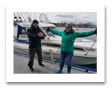 March 28, 2018 : 0 lbs.Halibut - The one that got away was THIS BIG... Blake and Sheila from Vancouver BC