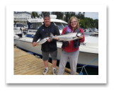 June 24, 2018 : 13 lbs.Chinook Salmon & Coho Salmon - Sooke BC - Katherine & Sergio from Victoria BC