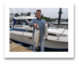 June 30, 2018 : 15 lbs. Chinook Salmon & Hatchery Coho Salmon- Sooke BC - Lucas from Oak Bay Marina Friends Day Out