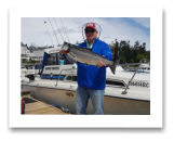 July 6, 2018 : 15 lbs. Chinook Salmon - Sooke BC - Terry from Texas