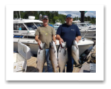 July 7, 2018 : 21, 19, 16, 14 lbs. Chinook Salmon - Sooke BC - Buddy day out, Rangers Derby with Daryl