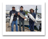 July 19, 2018 : 15, 14, 12 lbs. Chinook Salmon - Sooke BC - Charles, Justin, & Lauren from Toronto