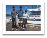 July 22, 2018 : 19, 11 lbs. Chinook Salmon - Sooke BC - Terry, Noah, & Josh Phillip's from O'Leary PEI, Canada