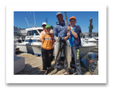 July 26, 2018 : 15, 13 lbs. Chinook Salmon - Sooke BC - Dave, Bonnie, &  Dane Jespersen from Westlock AB
