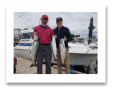 August 2, 2018 : 15 & 12 lbs. Chinook Salmon and Sockeye Salmon - Sooke BC - Day 2 of 2 - Stan & Rod from Washington State