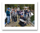 August 11, 2018 : 17 to 8 lbs. Chinook Salmon, Sockeye & Coho Salmon - Sooke BC - Day 2 - Singer Valve Group Trip