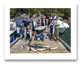 August 10, 2018 : 25 to 8 lbs. Chinook Salmon, Sockeye & Coho Salmon - Sooke BC - Day 1 - Singer Valve Group Trip