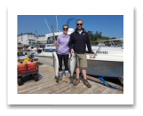 August 17, 2018 : 15 & 13 lbs chinook salmon - Sooke BC - Hurricane Kate and Dennis from Washington