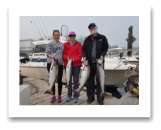 August 22, 2018 : 20, 18, 16 lbs chinook salmon & sockeye salmon - Sooke BC - Christine from Victoria with Ed & Nancy