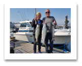 August 24, 2018 : 15, 12, 8 lbs chinook salmon - Sooke BC - Shelly and Garth from Surrey BC