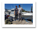 August 27, 2018 : 15 lbs chinook salmon - Sooke BC - Scott and Hunter from Seattle