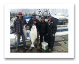 April 21, 2014: 37 lbs. Halibut & 10 lbs. Chinook Salmon - Constance Bank  - Russel, Bradley, Roger, and Alex from Victoria BC