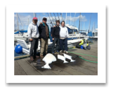 April 9, 2014: 75, 25, 22 lbs. Halibut - Constance Bank  - Gary, Larry, Brandyn, and Gordon from Gordon Campbell Construction Services Victoria BC