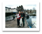 March 26, 2014: 25 lbs. Halibut - Constance Bank -  Shannon & Jamie from Kelowna BC