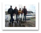 May 5, 2014: 18 to 24 lbs. Halibut - Constance Bank  - Spencer, Don, Derek, and Jim from Victoria BC