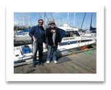 April 28, 2014: 12 & 18 lbs. Chinook Salmon - Constance Bank -  David from Port Coquitlam with Ben from Winnipeg
