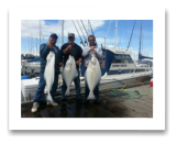 May 9, 2014: 20, 28, 30 lbs. Halibut - Constance Bank  - Dave, Dave, and Ken from Vancouver BC - Day 1 of 2