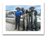 June 10, 2014: 26, 15, 12, 8, 8 lbs. Chinook Salmon - Sheringham  Point -  Kay, Suk Koo, & Wan from Duncan, Langford, and South Korea