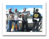June 24, 2014 :21 & 16 lbs. Chinook Salmon - Sheringham  Point -  Day 2 of 2 - Cody, Colton, Eric, & Joe from Kelowna BC