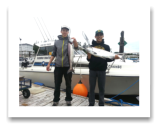 June 23, 2014: 13 & 10 lbs. Chinook Salmon - Sheringham  Point -  Day 1 of 2 - Cody, Colton, Eric, & Joe from Kelowna BC