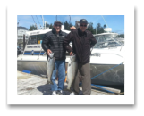 June 18, 2014: 22 & 10 lbs. Chinook Salmon - Trap Shack -  Len from Victoria with David from Vancouber BC
