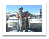 June 25, 2014 : 25, 12, 9 lbs. Chinook Salmon - Sheringham  Point -  Lori & Steve from Edmonton and Fort McMurray