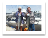 July 4, 2014 : 16 & 13 lbs. Chinook Salmon - Jordan River - Judy & Teri from Sooke and Victoria BC