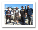 July 7, 2014 : 15, 14 lbs. Chinook Salmon - Race Rocks - Todd, ALex, Reno, & Austin from Victoira and Sooke BC