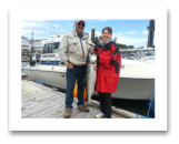July 13, 2014 : 18 lbs. Chinook Salmon - Race Rocks - Shirley & Jerry from Enderby BC