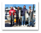 July 15, 2014 : 20, 16, 13, 10 lbs. Chinook Salmon- Race Rocks - Derek, Devin, & Andy from Ontario with Dan from Brentwood BC