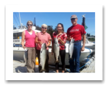 July 22, 2014 : 18, 11 lbs. Chinook Salmon & Pink Salmon - Race Rocks - Rod, Katie, Danielle, & Sarah from Victoria BC
