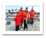 July 20, 2014 : 12 lbs. Chinook Salmon - Race Rocks - Alex, Ewan, Mike, & Cort from Victoria BC