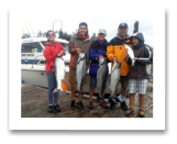 July 23, 2014 : 20, 19, 16, 13 lbs. Chinook Salmon & Pink Salmon - Race Rocks - Aubrey, Claudia, Justin, Kira, & Gabrielle from Langley BC