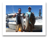 July 26, 2014 : 18.6 - 16.5 lbs. Chinook & 13 lbs. Halibut - Otter Point - Consultants Derby of Victoria Crew
