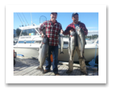 July 25, 2014 : 29, 20, 19 lbs. Chinook - Otter Point - Afternoon Trip - Shawn from Toronto with Jeremy from Victoria