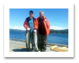 August 5, 2014 : 16 & 16 lbs. Chinook - Day 2 of 2  - Otter Point - John & Joel from Edmonton Alberta with their 7th year in a row with Blue Wolf Charters