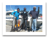 August 7, 2014 : 27, 26, 22 lbs. Chinook - Muir Creek - Tyrone & Shawn from Edmonton with Mohammed from Victoria BC