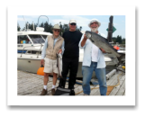 August 11, 2014 : 17 lbs. Chinook and Hatchery Coho - Muir Creek - George, Greg, & Don from Victoria BC