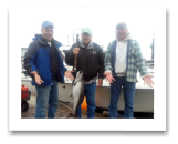 August 13, 2014 : 12 lbs. Chinook - Otter Point - Day 2 of 3 - Dick, Scott, & Chuck from Washington. This is the 4th year in a row going out with Roy on the Blue Wolf.