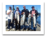 August 19, 2014 : 18, 17, 17, 16, 15 lbs. Chinook Salmon - Otter Point - Day 2 of 3 -  Big Al, Don, Dave, & Walter from Calgary Alberta