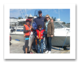 August 21, 2014 : 14 lbs. Chinook Salmon - Secretary Island - Brandon, Denis, Ryan, Alex, & Stephanie from Brentwood BC