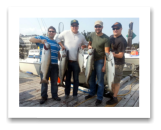 August 22, 2014 : 21, 20, 19, 17, 13 lbs. Chinook Salmon - Otter Point - Todd, Eric, Alex, & Grahame from Victoria BC