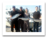 August 23, 2014 : 16, 15, 14 lbs. Chinook Salmon - Otter Point - Day 1 of 2 - Bailey, Cameron, Brad, & Mike from Vancouver BC