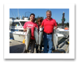 August 25, 2014 : 16, 15, 13, 10 lbs. Chinook Salmon - Sheringham Point - Daniel, Luis, & Pam from Timmons Ontario