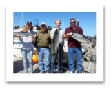 August 27, 2014 : 17, 14, 10 lbs. Chinook Salmon - Otter Point - Day 2 of 2 - Kalene, Dave, Mathew, & Gary from Calgary Alberta