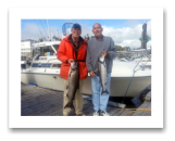 August 30, 2014 : 18 & 10 lbs. Chinook Salmon - Otter Point - Paul & Ed from Victoria BC