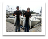 September 18, 2014 : Limit of Coho Salmon - Secretary Island - Kalen and Dad Simon from Duncan BC