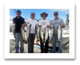 September 19, 2014 : Limit of Coho Salmon - Muir Creek - Les from Peachland, Jim from Oliver, Jason from Vancouver, and Peter from Vernon BC