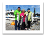 September 24, 2014 : Limit of Wild Coho Salmon - Muir Creek - Haley from Victoria BC with Pat and Mike from Steinbach Manitoba